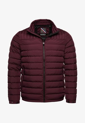 Down jacket - rich deep burgundy