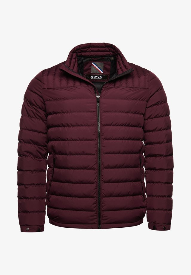 Down jacket - rich deep burgundy