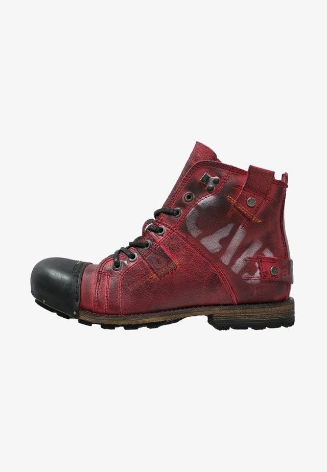 INDUSTRIAL - Lace-up ankle boots - brick