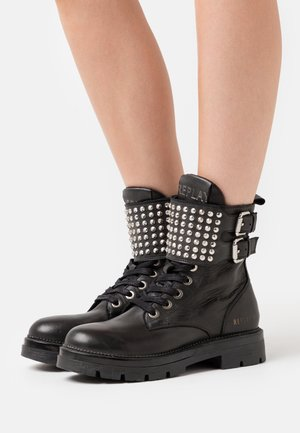 PAMELA MYKITA - Cowboy/biker ankle boot - black