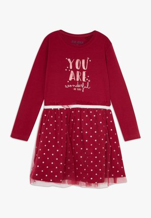 KIDS TULLE DRESS - Jerseyklänning - bordeaux orig