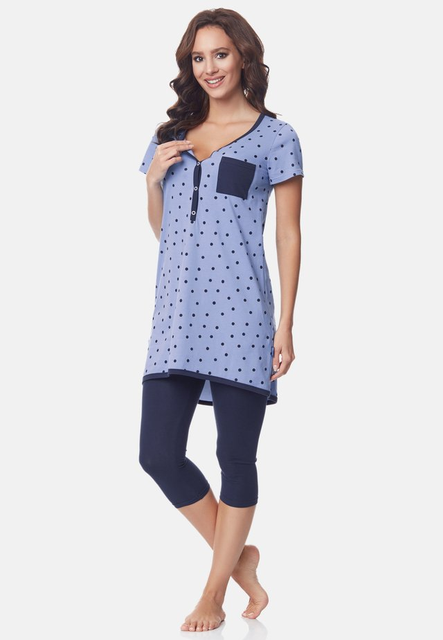 SET - Pyjama - blue-Dots-Navy