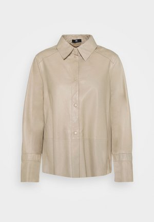 Button-down blouse - beige