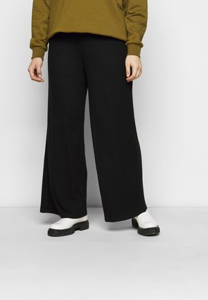 SUPERSOFT WIDELEG TROUSERS - Verryttelyhousut - black