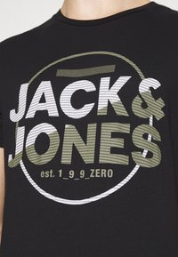 Jack & Jones - JCOSTAR TEE CREW NECK - Camiseta estampada - black - 3