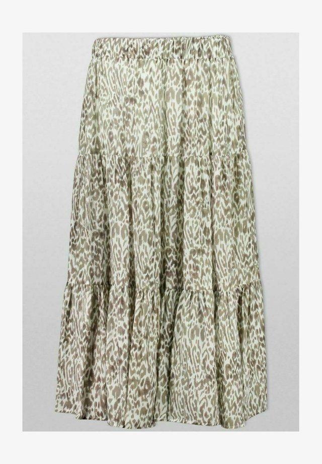 Pleated skirt - sage animal