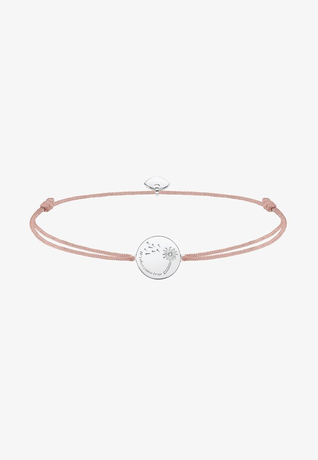LITTLE SECRET WISHES COME TRUE  - Armband - silver-coloured/beige