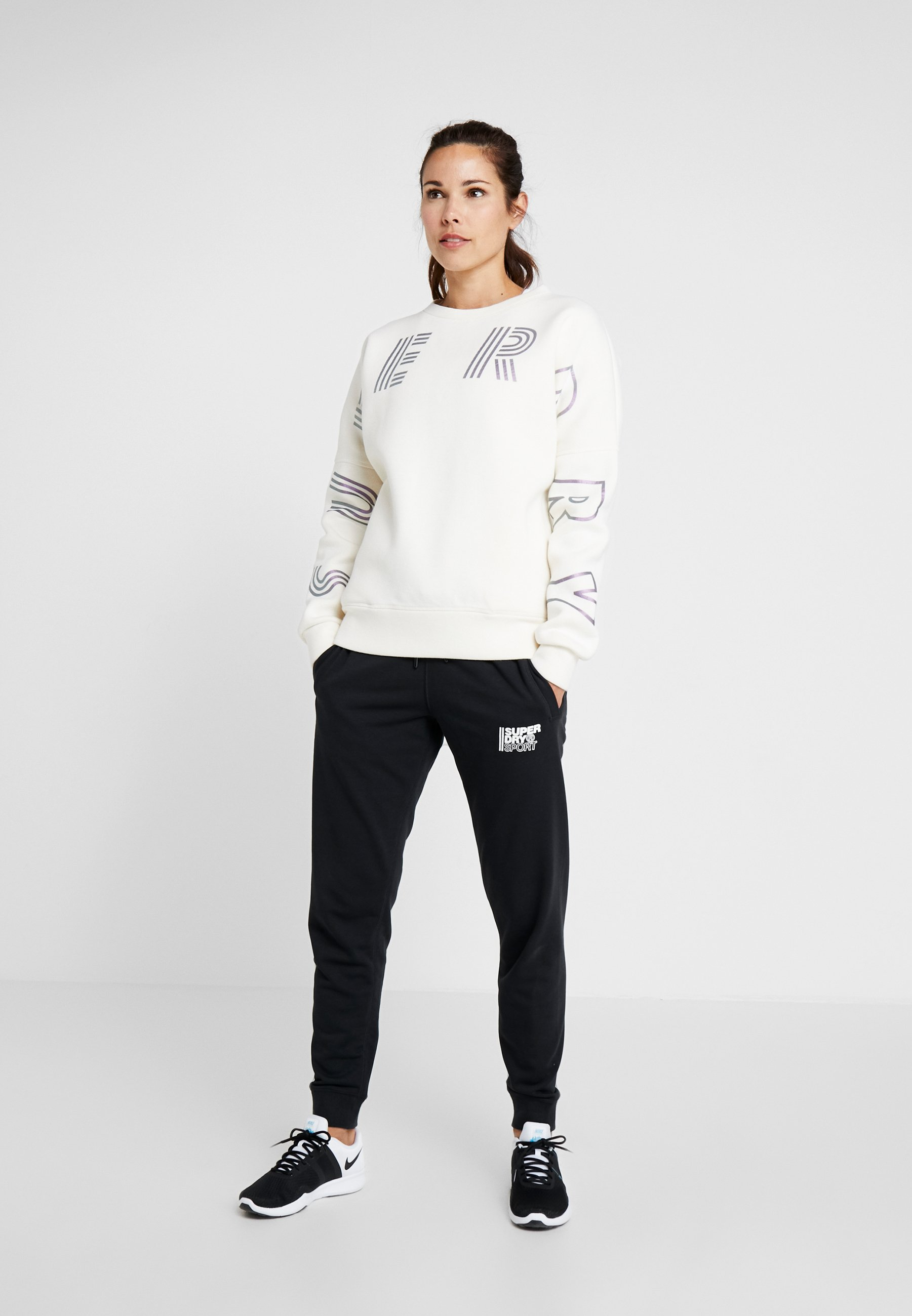 Superdry FLASH SPORT CREW - Sweatshirt - flash optic