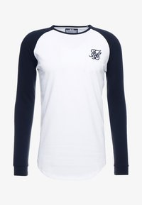 SIKSILK - RAGLAN LONG SLEEVE - Long sleeved top - black/white - 3