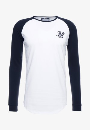 RAGLAN LONG SLEEVE - Top s dlouhým rukávem - black/white