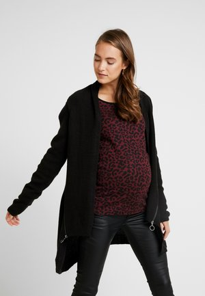 CARDIGAN ZIP - Kardigan - black