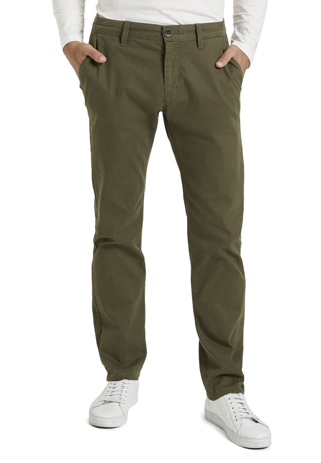 STRUCTURE - Chinos - dusty wood green