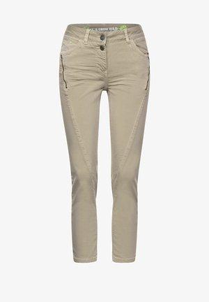 MIT ZIPPER - Slim fit jeans - beige