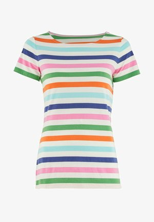 Print T-shirt - satsuma und leguan, multistreifen