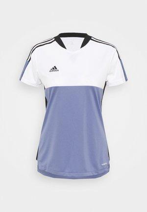 TIRO - T-shirt print - white/orbit violet