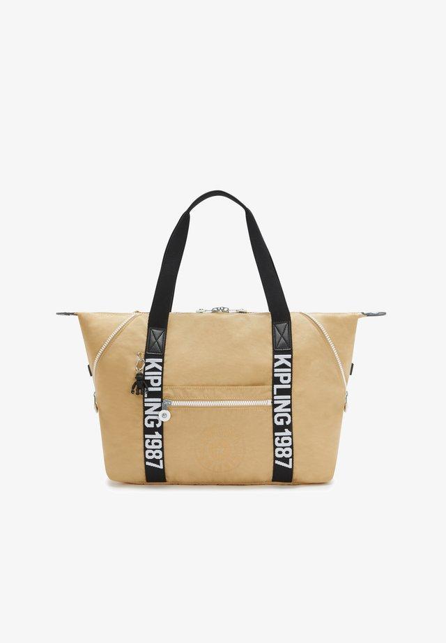 Shopping bag - beige black