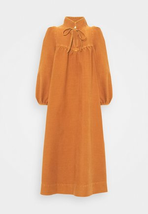 Day dress - vivid brown
