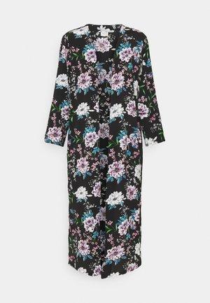 JOSEPHINE LONG KIMONO - Summer jacket - black/white/blue
