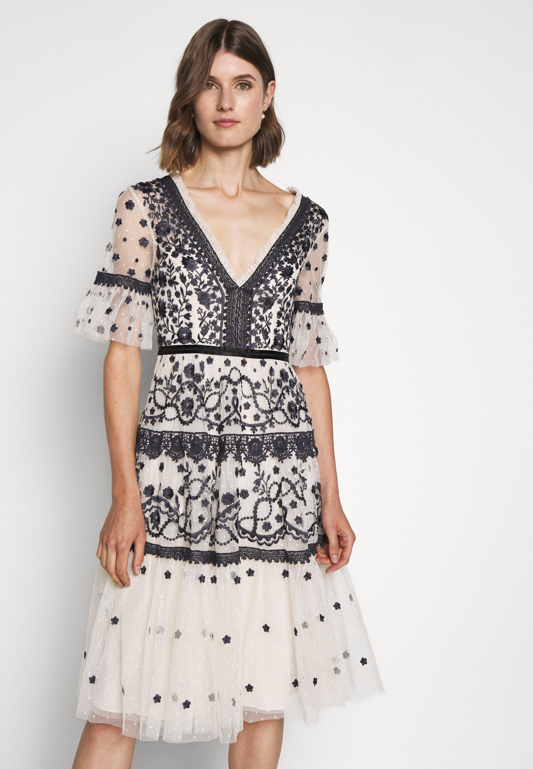MIDSUMMER DRESS - Cocktailkleid/festliches Kleid - champagne/black