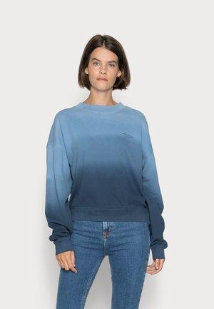 ROUND NECK MODERN COPPED FIT - Sweatshirt - multi/blue shades