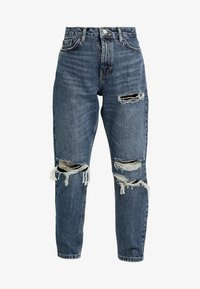 Topshop Petite - TOKYO MOM - Jeans Relaxed Fit - blue denim - 4