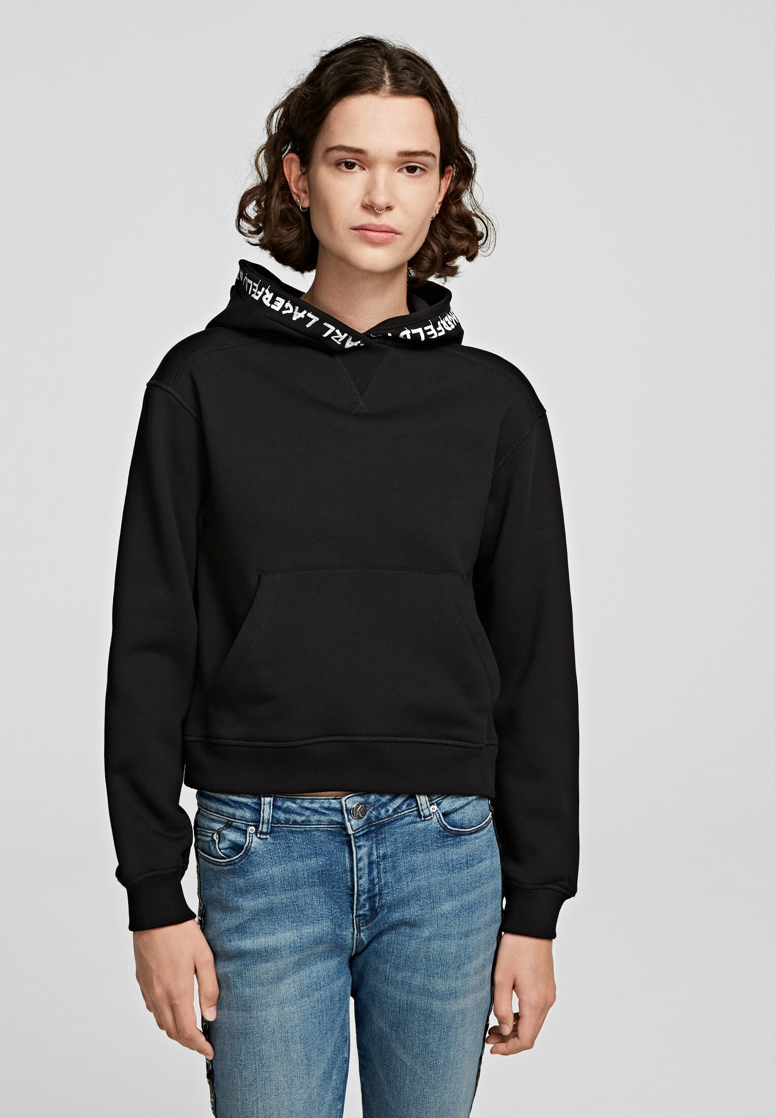 Outlet Store Women's Clothing KARL LAGERFELD Hoodie black dqLrDCgDq