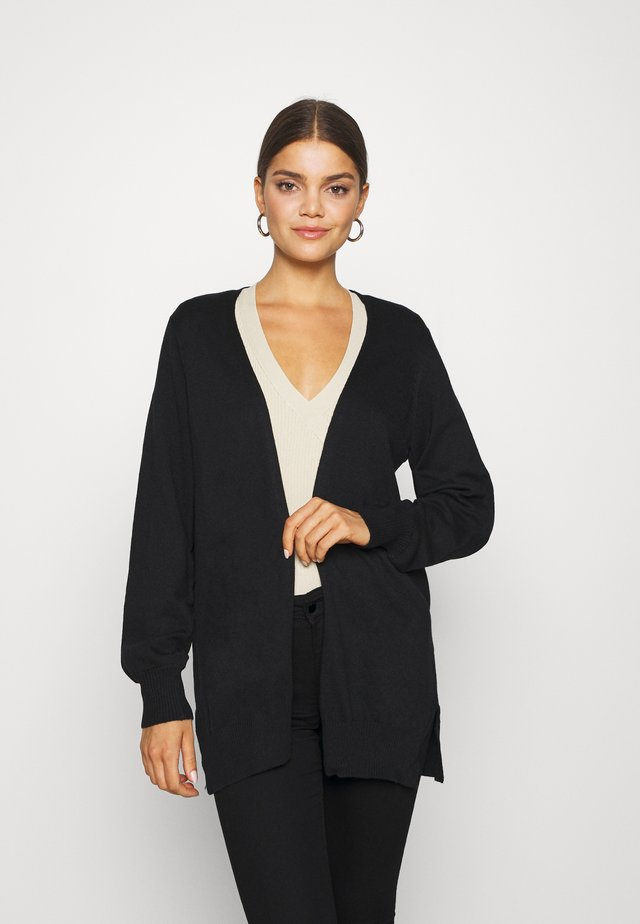ASTA CARDIGAN - Strickjacke - black
