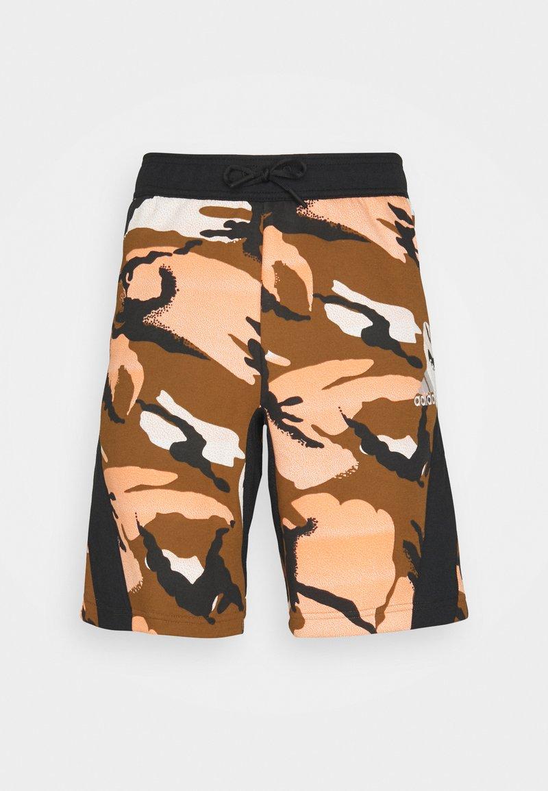 adidas Performance - STREET - Pantalón corto de deporte - multicolor/wild brown
