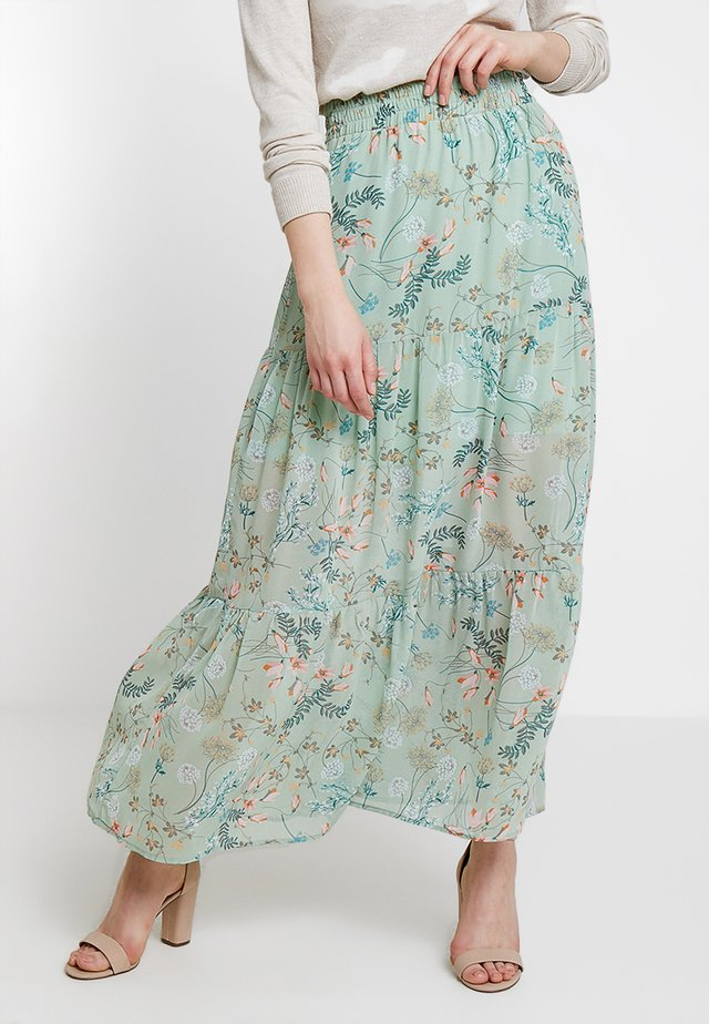 KABITA SKIRT - Maxi skirt - lichen green