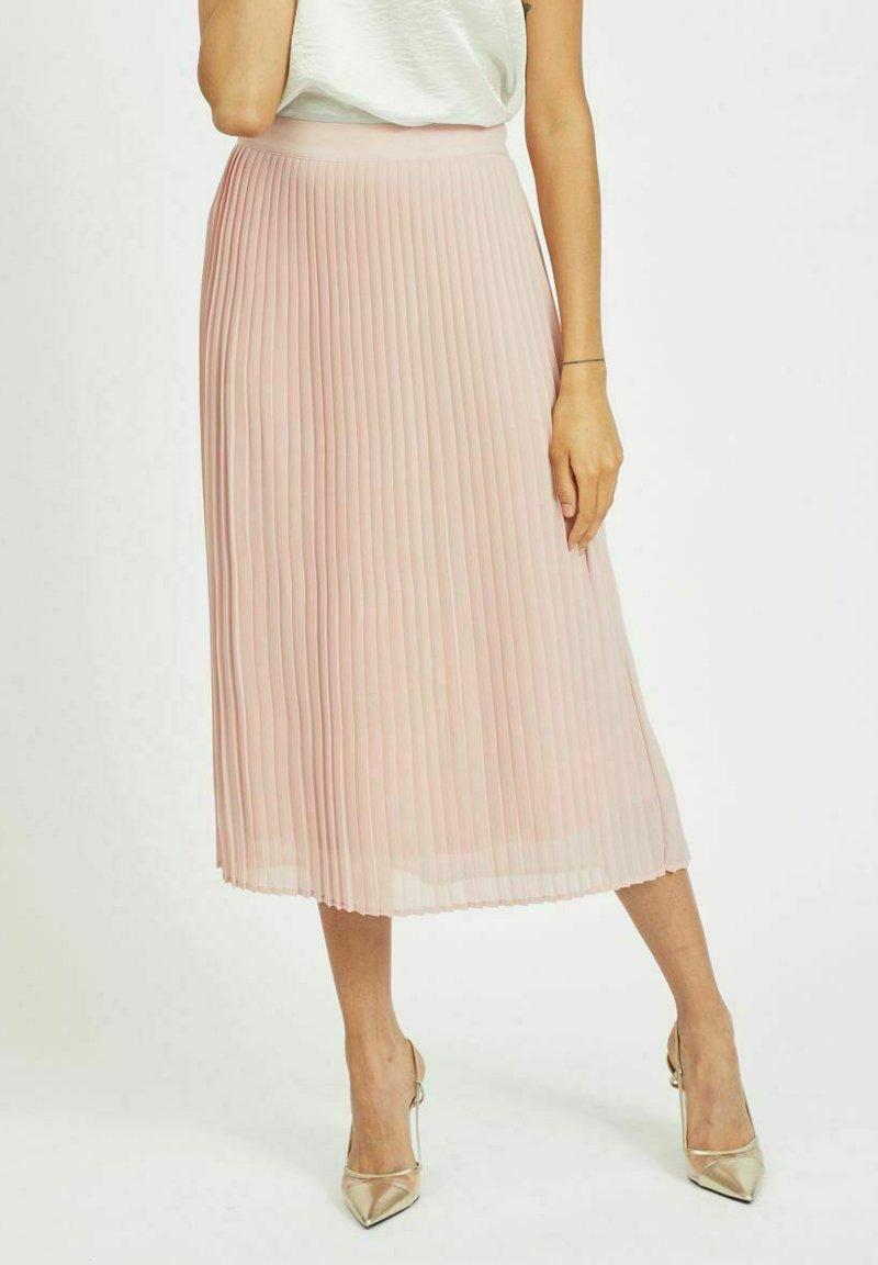 Vila - Áčková sukně - pale mauve