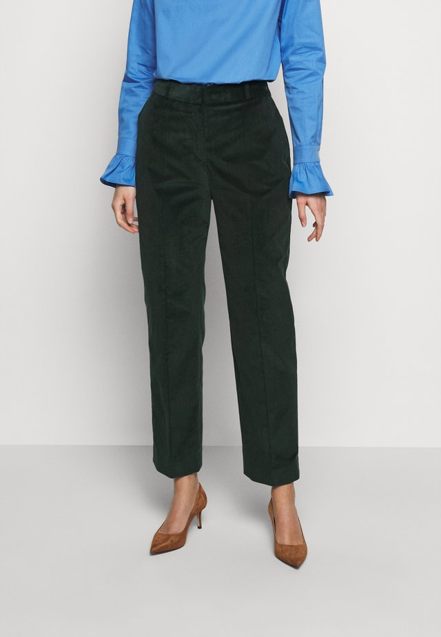 CROPPED DRAINPIPE TROUSER - Pantaloni - deep teal green