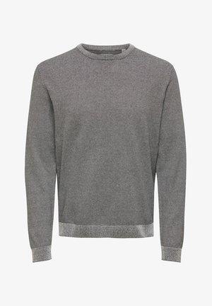 ONSALEX SMALL STRIPE - Sweter - grey
