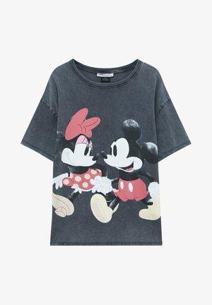MINNIE UND MICKEY MOUSE - T-shirt con stampa - mottled dark grey