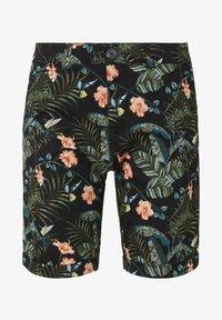 TOM TAILOR DENIM - TOM TAILOR DENIM HOSEN & CHINO GEMUSTERTE CHINO SHORTS - Shorts - colorful botanical print - 6