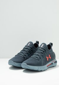 Under Armour - HOVR PHANTOM SE - Neutral running shoes - wire/ash gray/beta red - 2