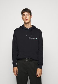 Paul Smith - EMBROIDERED AND PRINTED HOODY - Hoodie - black - 0