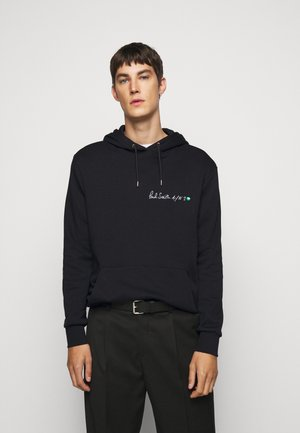 EMBROIDERED AND PRINTED HOODY - Hoodie - black