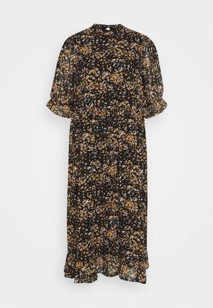 SLFELINA DRESS  - Day dress - black/curry/creme
