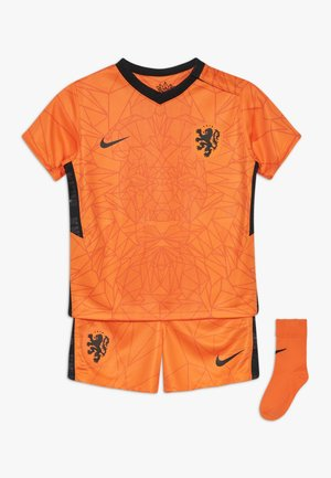 NIEDERLANDE KNVB I NK BRT KIT HM SET - Sportovní kraťasy - safety orange/black