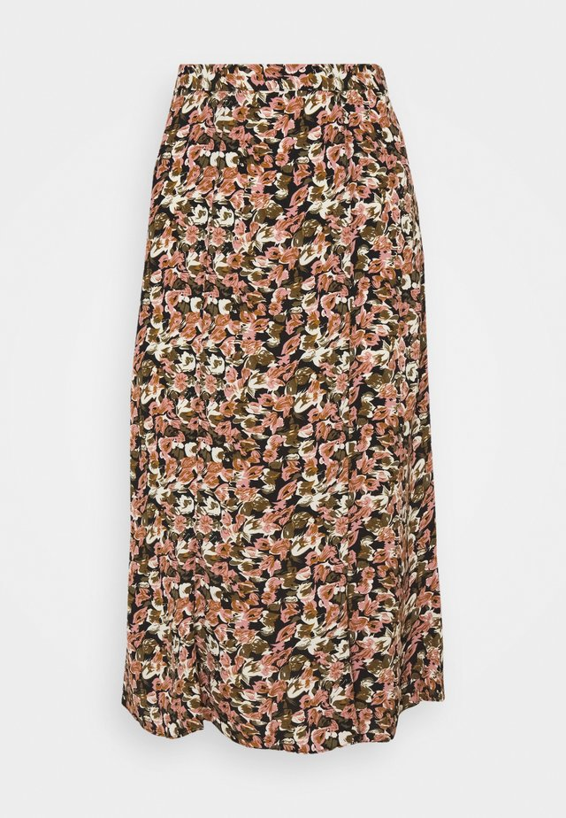 VIBROOKS MIDI SKIRT - Jupe trapèze - old rose