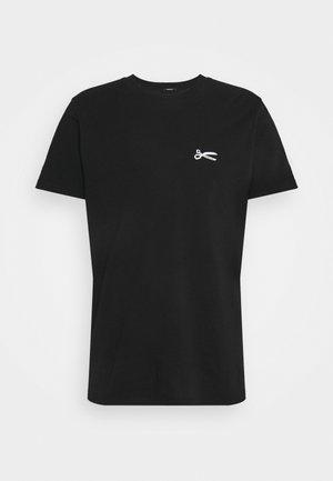 SCISSOR SLIM TEE - Basic T-shirt - anthracite black