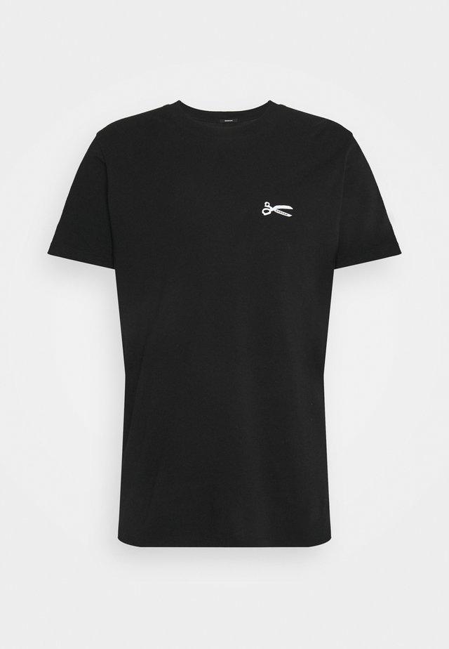 SCISSOR SLIM TEE - T-shirt basic - anthracite black