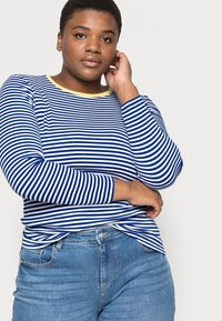 ONLY Carmakoma - CARTINE  - Long sleeved top - blue/white - 3