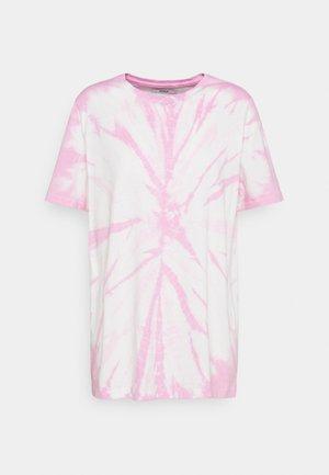ONLBOPPY TIE DYE - T-shirt med print - white/pink