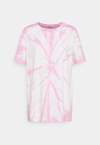 ONLBOPPY TIE DYE - Print T-shirt - white/pink