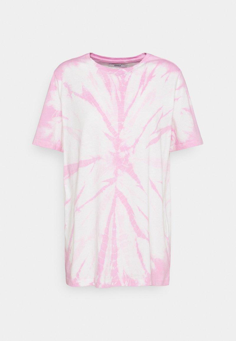 ONLY - ONLBOPPY TIE DYE - Print T-shirt - white/pink