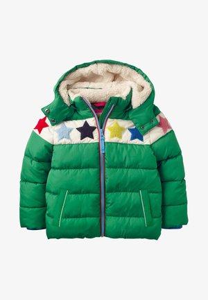 MIT WATTIERUNG - Winter coat - schottengrün, sterne