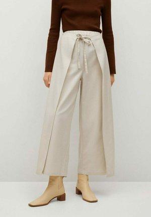 LOUISAL - Trousers - beige