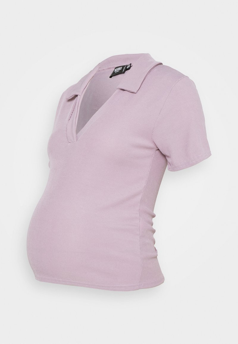 Missguided Maternity - V NECK COLLARE - Basic T-shirt - lilac