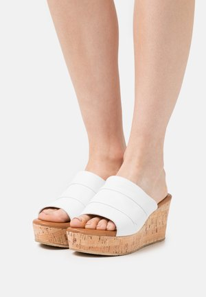 Heeled mules - offwhite